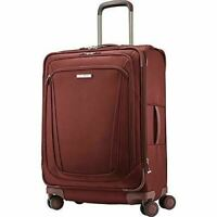 """$580 Samsonite Silhouette 16  25"""" Softside Expandable Spinner Suitcase Luggage"""
