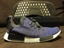 ADIDAS NMD R1 STLT PK TRACE BLUE/GREY/ CORE BLACK DS Sz 13US (FITS 12.5)