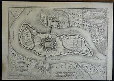 Nicolas de Fer gravé Plan des Fortifications de FORT LOUIS  Bas Rhin 1697
