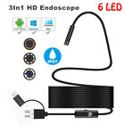 5/7/8mm 6/8 LED Android USB TYPE-C Endoscope IP67 Inspection Borescope HD Camera