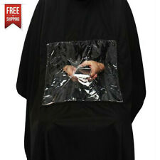 Pro Salon Hair Cutting Barber Cape with Window Phone Viewing Apron Stylist Gown