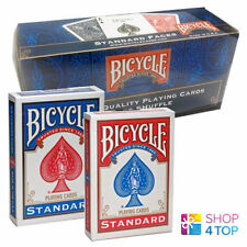 12 DECKS BICYCLE RIDER BACK NO FACE BLANK MAGIC TRICKS CARDS RED AND BLUE USPCC