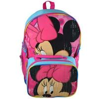 "Cute new Disney  Minnie Bowtique 16"" Backpack and Lunch bag Kit Pink Girl"