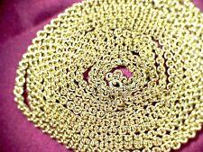 """Antique Victorian 18ct Gold Belcher Muff Chain 60"""""""