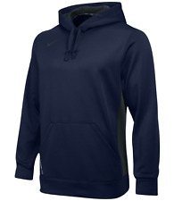MENS NIKE DRI-FIT THERMA KO PULLOVER HOODIE NAVY ANTHRACITE 621940-418 SIZE L