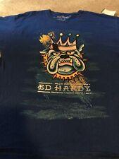 Authentic Ed Hardy Bulldog King T-Shirt Blue Mens Sz XL