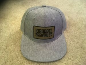 10 Barrel Brewing Co. Gray Snapback Hat. Brand New.