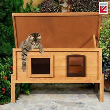 The Hutch Company Extra Large External Self Heating Outdoor Cat House Kennel One