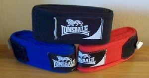 Elastic Hand Wraps Blue Pair Lonsdale Boxing Thai Kickboxing MMA UK Seller
