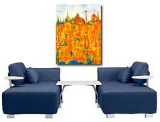 Gemälde Acryl Original Abstrakt Stadtlandschaft Signiert Dom Berlin 50x70cm Neu