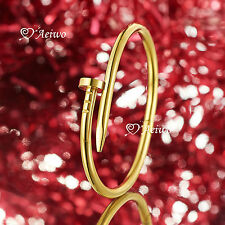 Gold silver stainless steel bangle bracelet small size 16cm