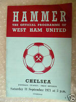 1971 WEST HAM UNITED v CHELSEA, 11th Sept (League Division One)