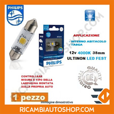 1 LAMPADINA LED 4000K FEST 38 MM PHILIPS LANCIA Y10 1.0 FIRE KW:33 1985>1989 128