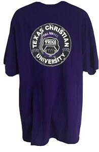 TCU Horned Frogs Purple T Shirt Mens size 2XL, XXL