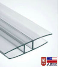 4' Long PAC OF 2 10mm POLYCARBONATE CLEAR H CONNECTORS