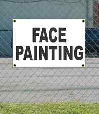 2x3 FACE PAINTING Black & White Banner Sign NEW Discount Size & Price FREE SHIP