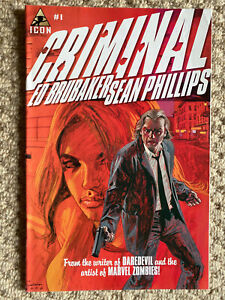 CRIMINAL by Ed Brubaker and Sean Phillips COMPLETE series / full set FIRST PRINT