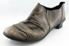 Rieker Low Cut Boots Brown Leather Pull On Women Sz 40