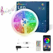 Led Strips Lights with Remote 6M, Maxuni RGB Bluetooth App Controlled Colour