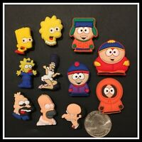 11 Shoe Charms for Crocs SIMPSONS & SOUTH PARK Bart Lisa Maggie Eric Kenny Kyle