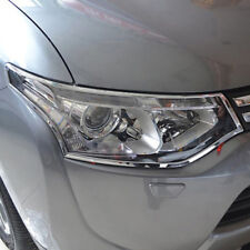 Chrome Front Headlight Lamp Frame Cover Trim For Mitsubishi Outlander 2013 2014