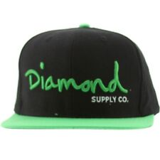 Diamond Supply Co O.G. Script Snapback Cap (black / lime)