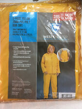 PREMIUM Westchester Protective Gear 3-Piece Yellow Polyester Rain Suit 3XL 54-56
