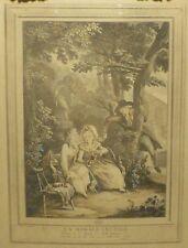 La morale Inutile Etienne Claude Voysard French Etching af Borel Antoine 18th c