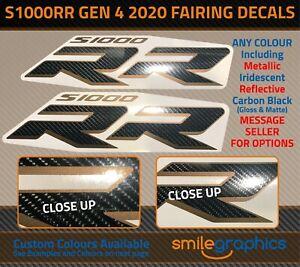 BMW S1000RR Fairing Decals Gen4 Gen 4 2020 - Gloss Carbon / Bronze Metallic