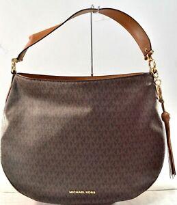 Michael Kors Brooke Brown Signature Zip Hobo Bag $298.00 #105SW