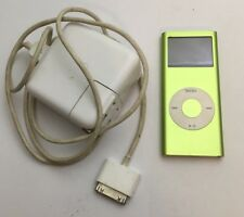 Apple iPod Nano 2nd Generation Green 4GB Model A1199 & Charger- USED and Working