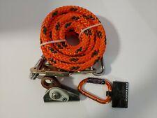 "Tree Climbers Flipline Kit.Yale Maxi-Flip Steel Core 3/4""X12',Carabi ner&Adjuster"