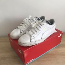Puma Basket White Leather Trainers Mens Size 10 44.5 Suede Clyde