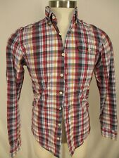Gant x Michael Bastian Mens Red Plaid Long Sleeve Cotton Shirt S
