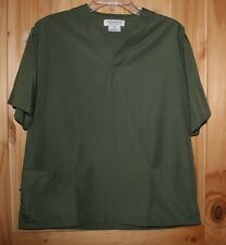 Natural Uniforms  SCRUB TOP   size XS   Beautiful solid Shade of Green   LOT6620