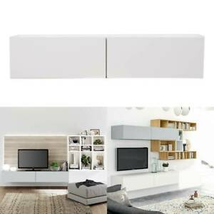 Modern Wall Mounted TV Cabinet Entertainment Unit 140 or 180cm Body Floating