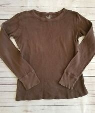 Old Navy Pullover Top Women's Sz Small Brown Long Sleeve
