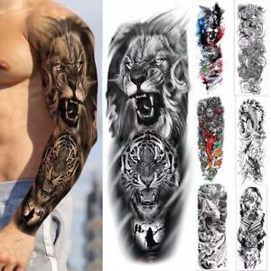 Temporary tattoo full arm sticker sleeve men women adults body art temp tattoos