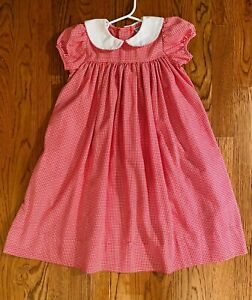 NWOT Kelly's Kids Red Houndstooth Dress sz. 4