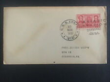 1937 US Navy Post Office Shanghai China Cover to USA USS Edsall