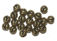 10mm Knot Antiqued Goldtone Metalized Metallic Beads