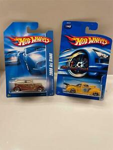 Hot Wheels Lot 2X 2008 All Stars '32 Ford Delivery/ #142 '40 Ford Truck U4