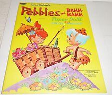 Vintage Pebbles & Bamm Bamm Flintstones paper dolls Near Mint