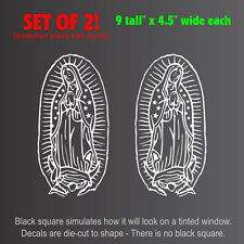 "Virgin Mary Guadalupe Setof2 Decals Stickers (4.5""x9"")"