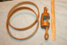ANTIQUE medium color Wood large EMBROIDERY HOOP & Clamp SET