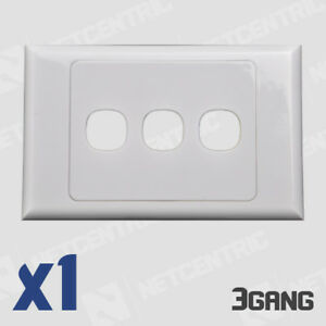 3 Gang Face Plate Wall Cover Electrical Port Jack Clipsal Compatible