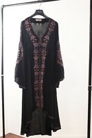NEW HIPPIE FLORAL EMBROIDERED FASHION COCKTAIL ASYMMETRICAL EMPIRE WAIST DRESS