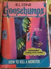 GOOSEBUMPS book R L STINE original cover series #46 HOW TO KILL A MONSTER