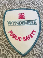 """Wyndemere Public Safety Patch Embroidered Security Guard Movie Prop 5 x 4 """" #62"""