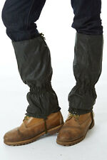 Sherwood Forest Waxed Gaiters,Ideal Shooting/Beating/Hiking,One Size,Olive